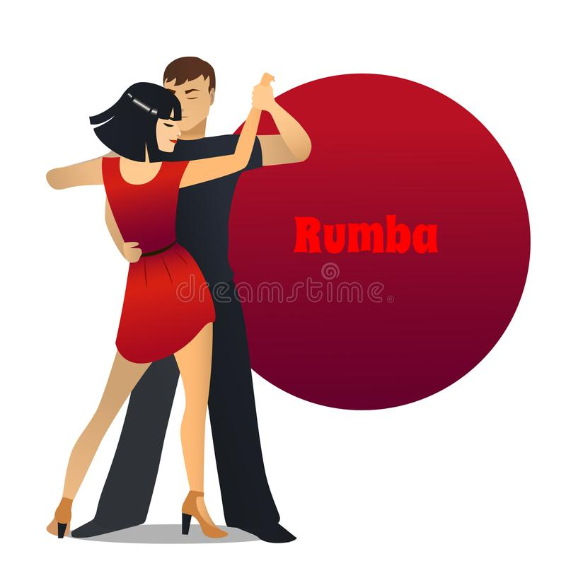 Download Taki Taki Rumba Audio: Rumba Dancing Couple In Cartoon Style Stock Vector