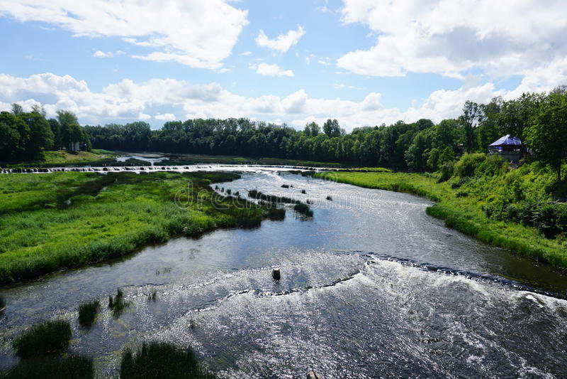 Rumba di Ventas della cascata di Venta immagini stock libere da diritti