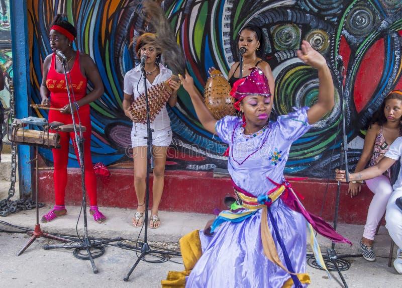 Rumba in Havana Cuba. HAVANA, CUBA - JULY 18 : Rumba dancer in Havana Cuba on July 18 2016. Rumba is a secular genre of Cuban music involving dance, percussion royalty free stock photo
