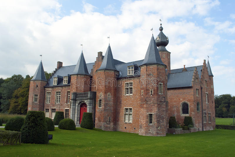 Rumbeke castle (renaissance). The Renaissance castle in Rumbeke, Belgium stock image
