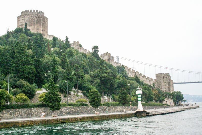 Rumeli-Schloss, Kï-¿ ½ cï ¿ ½ ksu Palast auf bosphorus, Istanbul, die Türkei lizenzfreie stockbilder