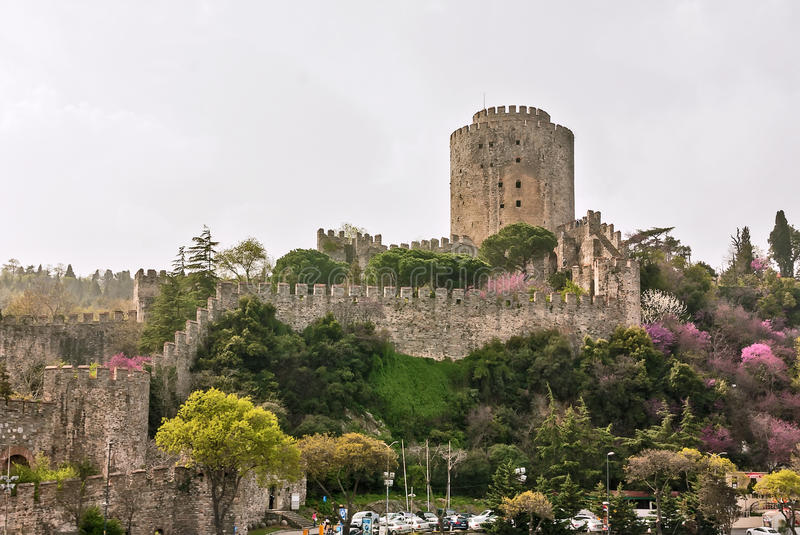 Rumelihisarı fortress, Turkey. Rumelihisarı is a fortress located on a hill at the European side of the Bosphorus royalty free stock photos