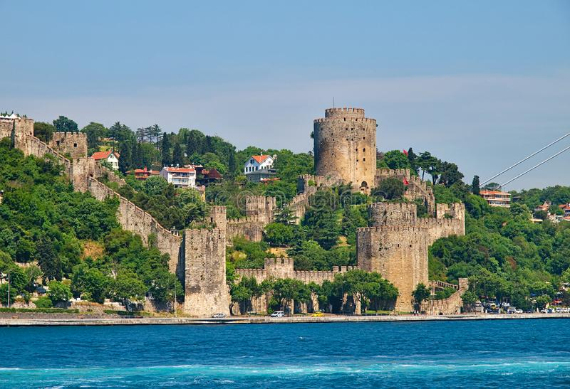 Rumelihisari Rumeli Fortress  in Bosphorous. Istanbul, Turkey royalty free stock photography