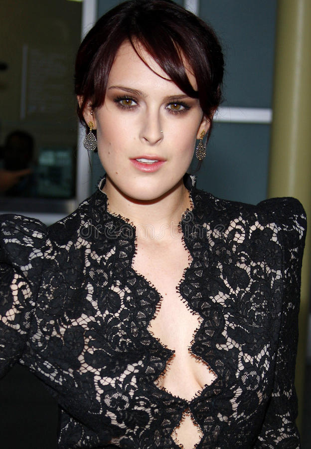 Rumer Willis. At the Los Angeles Premiere of `Sorority Row` held at the ArcLight Cinemas in Hollywood, California, United States on September 3, 2009 stock images