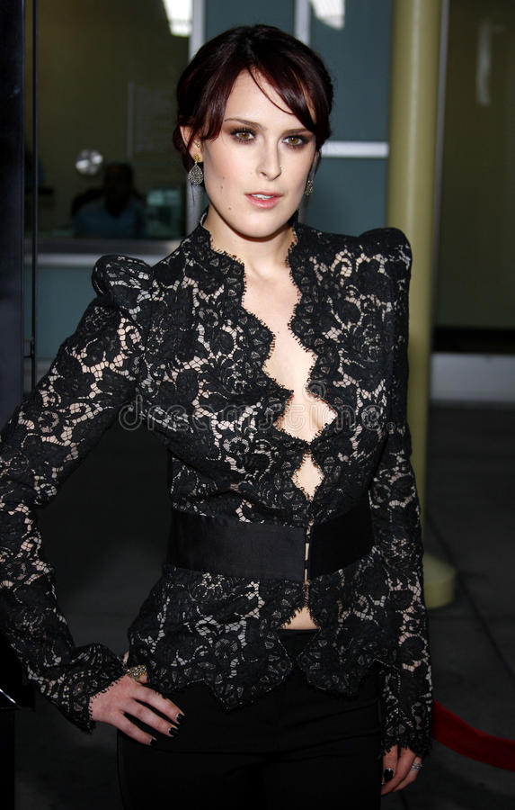Rumer Willis. At the Los Angeles Premiere of `Sorority Row` held at the ArcLight Cinemas in Hollywood, California, United States on September 3, 2009 royalty free stock image