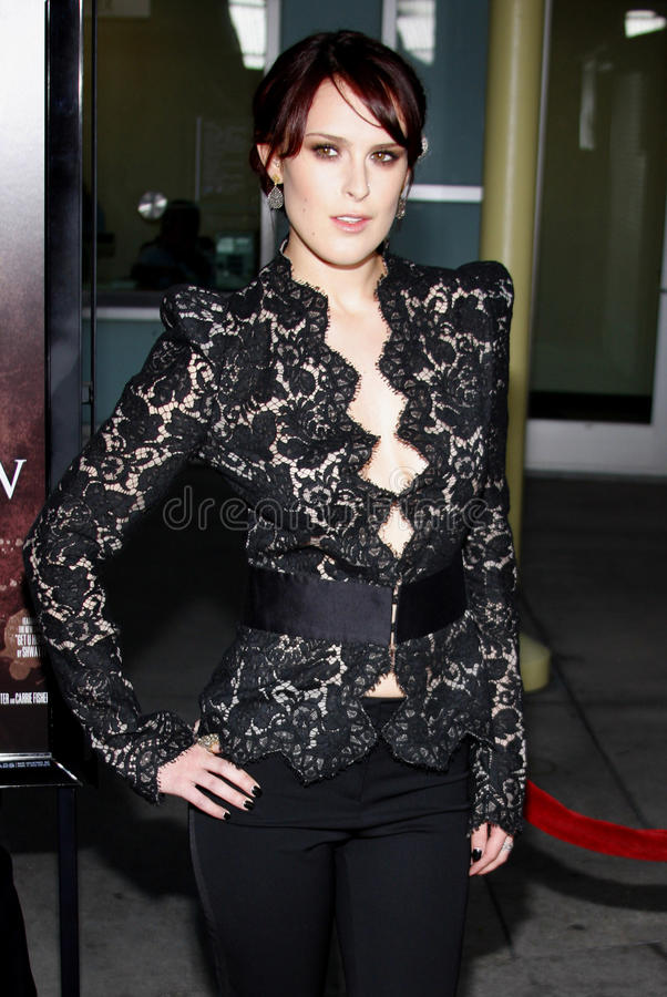 Rumer Willis. At the Los Angeles Premiere of `Sorority Row` held at the ArcLight Cinemas in Hollywood, California, United States on September 3, 2009 stock photography