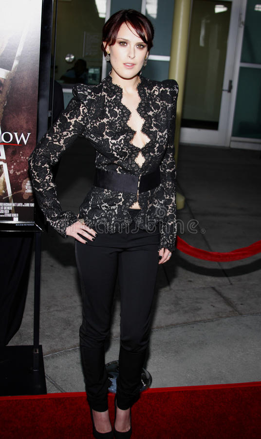 Rumer Willis. At the Los Angeles Premiere of `Sorority Row` held at the ArcLight Cinemas in Hollywood, California, United States on September 3, 2009 stock photo