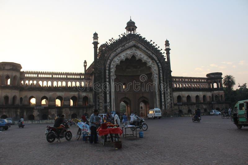 Rumi Gate van Lucknow: de stad van nawabs stock fotografie