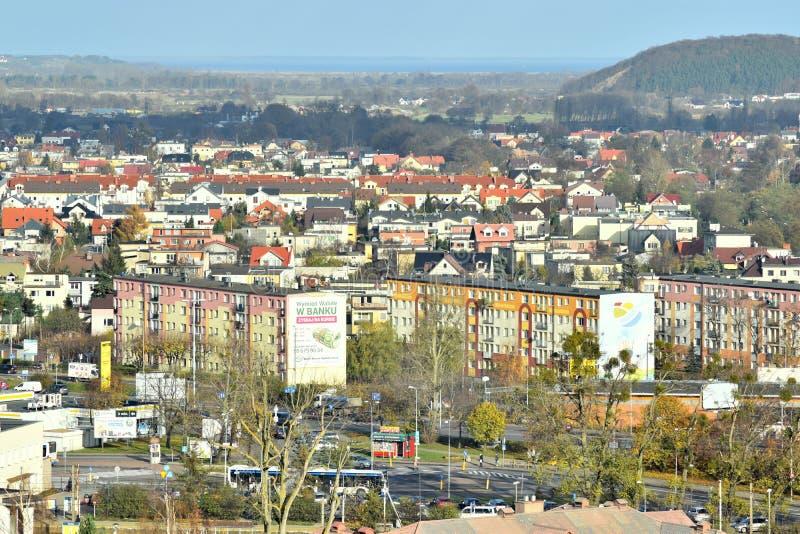 Rumia Панорама, взгляд Rumia, Польши стоковое изображение