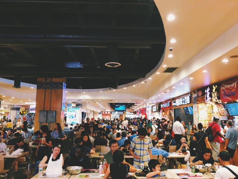 Rumienić się Chinatown centrum handlowego karmowego sądu fotografia royalty free