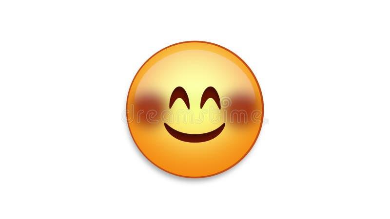 Rumienić się Emoji z Luma Matte ilustracji
