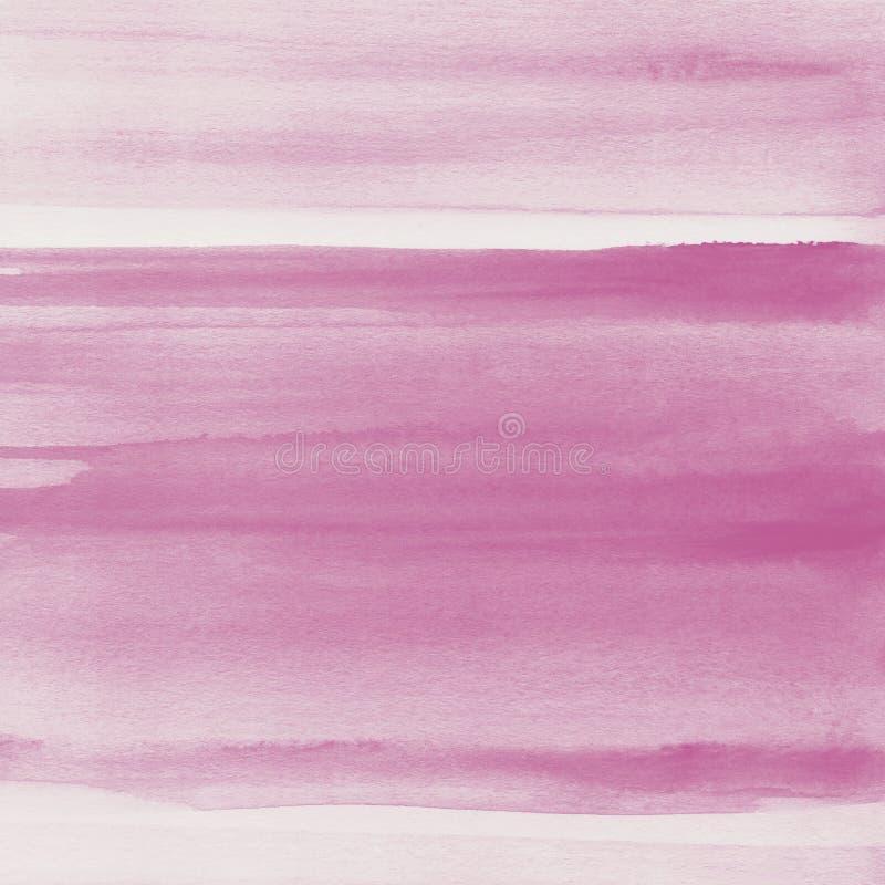 Rumieni się różowego akwareli tekstury tło, ręka malująca obraz royalty free