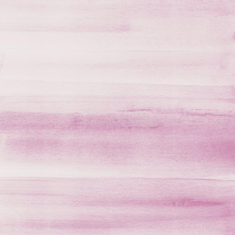 Rumieni się różowego akwareli tekstury tło, ręka malująca zdjęcia stock