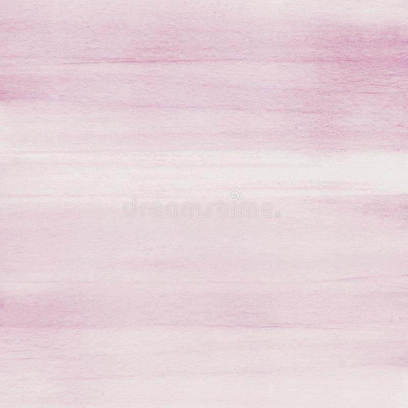Rumieni się różowego akwareli tekstury tło, ręka malująca obrazy royalty free