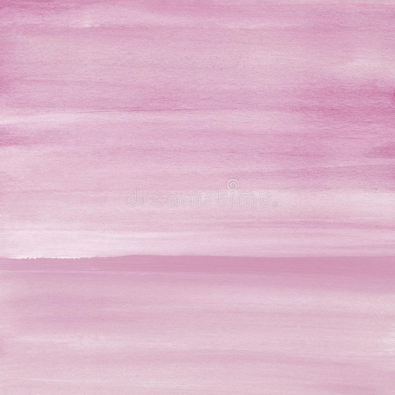 Rumieni się różowego akwareli tekstury tło, ręka malująca fotografia royalty free