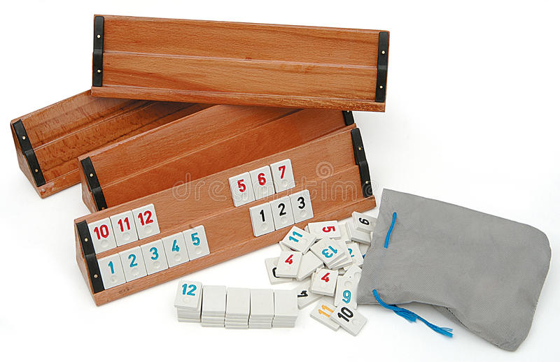 Rummy game pieces royalty free stock photo