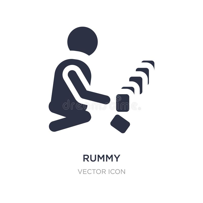 Rummy icon on white background. Simple element illustration from People concept. Rummy sign icon symbol design royalty free illustration