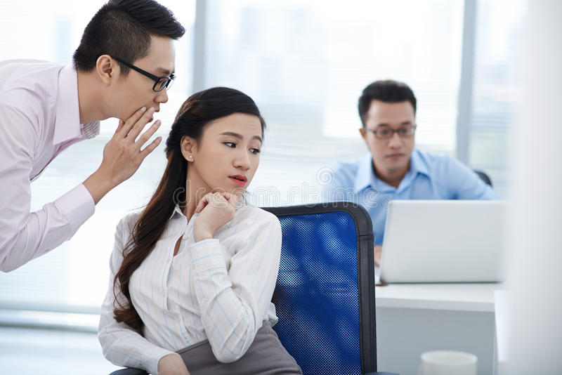 Rumors in office royalty free stock image