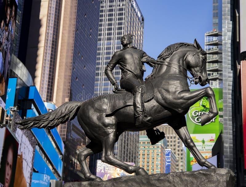 Rumors of War Statue stock photography
