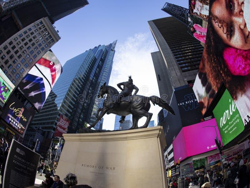 Rumors of War Statue: Rear Fisheye View royalty free stock photography