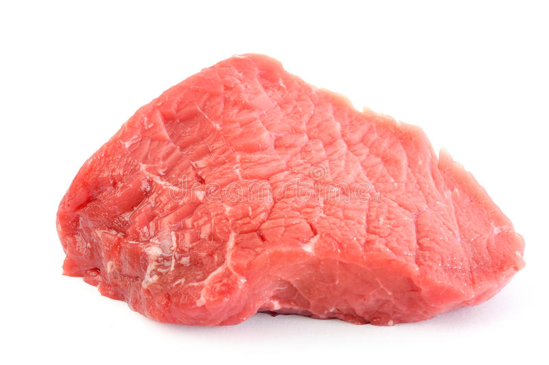 Rump steak. Raw and fresh royalty free stock photography