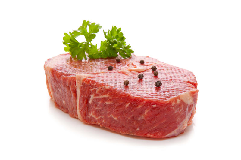 Rump steak. On white background stock images