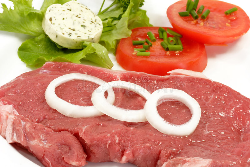 Download Rump Steak stock photo. Image of bloody, pieces, plate - 5330388