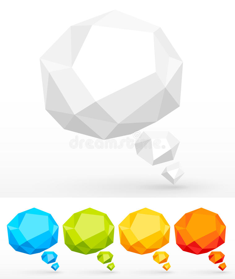 Free Rumpled Colorful Bubbles For Speech Stock Image - 20127721