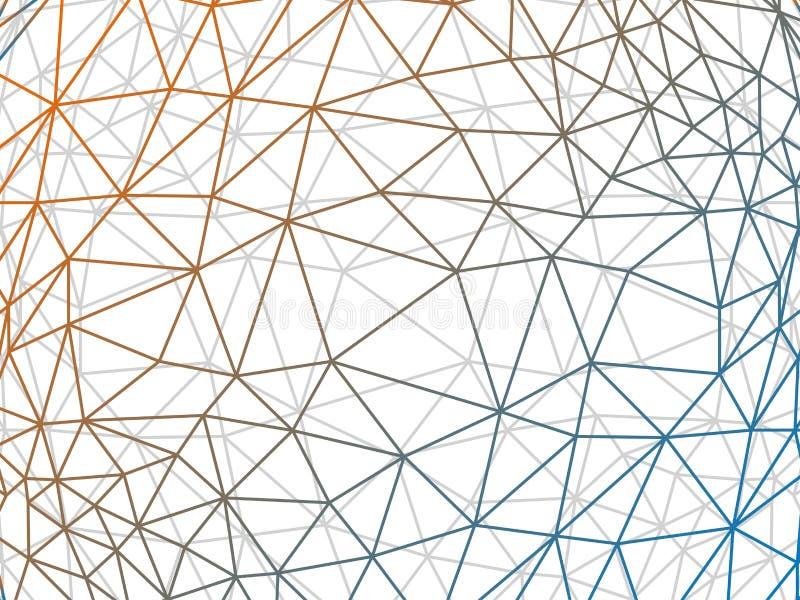 Rumpled multiplayered il fondo geometrico del grafico dell'illustrazione di vettore dell'estratto di struttura del modello di pol royalty illustrazione gratis