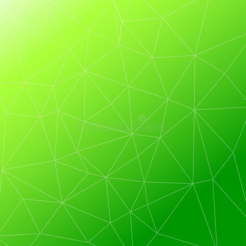 Rumpled multiplayered il fondo geometrico di struttura del modello di poli stile basso triangolare illustrazione di stock