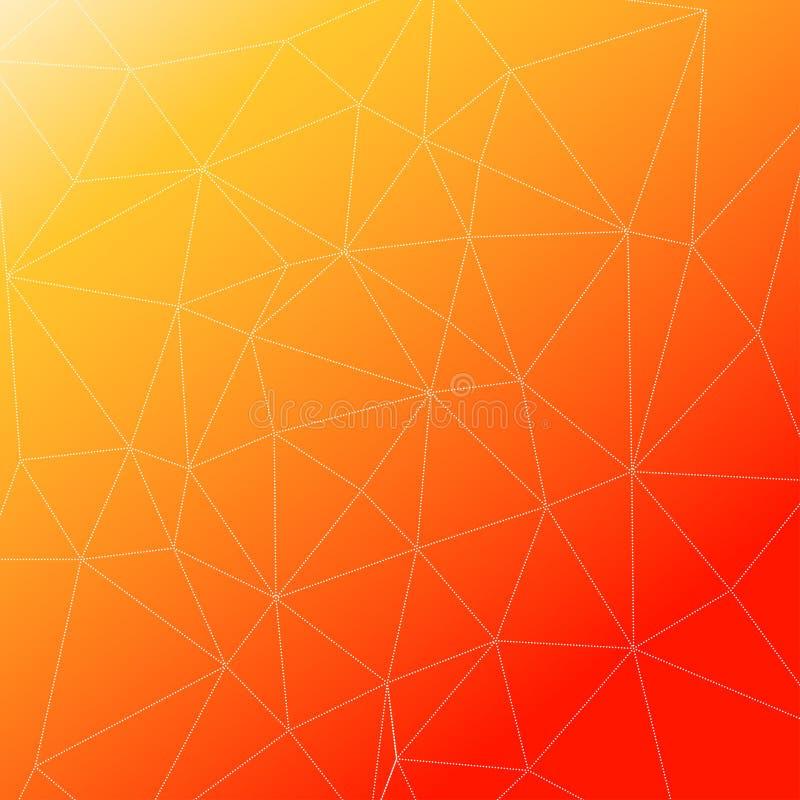 Rumpled multiplayered il fondo geometrico di struttura del modello di poli stile basso triangolare royalty illustrazione gratis