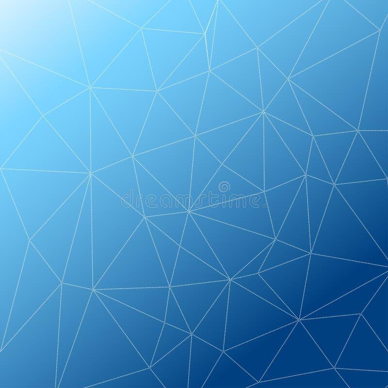 Rumpled multiplayered le fond géométrique de texture de modèle de bas poly style triangulaire illustration de vecteur