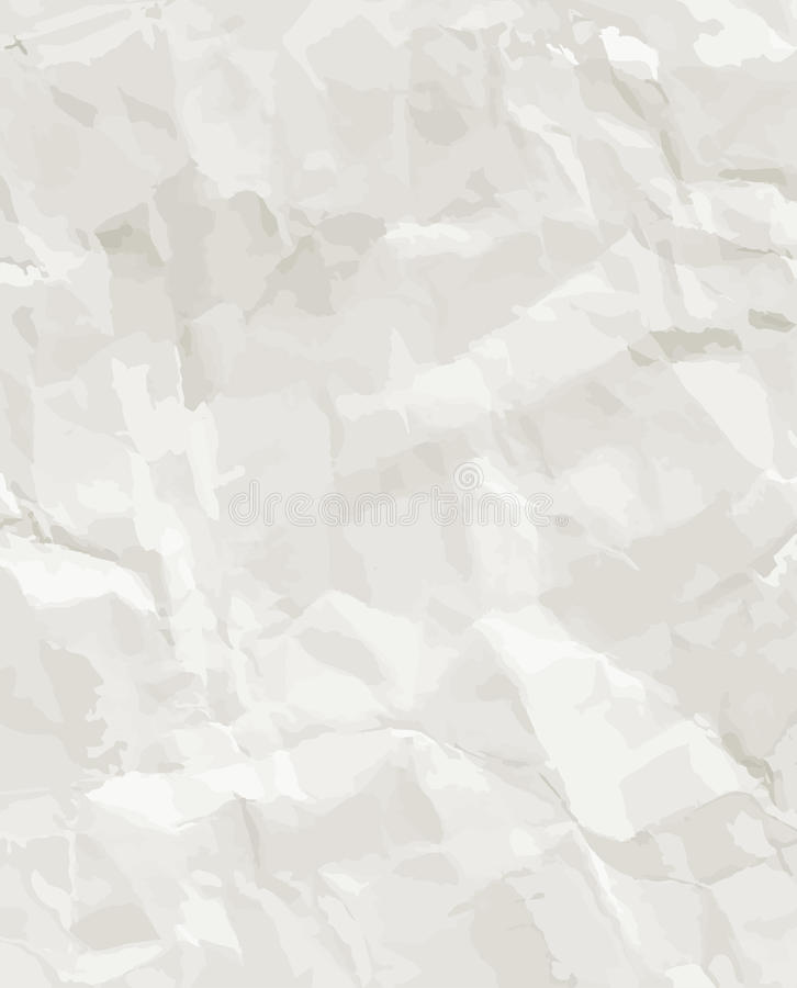 Rumpled paper seamless texture royalty free illustration