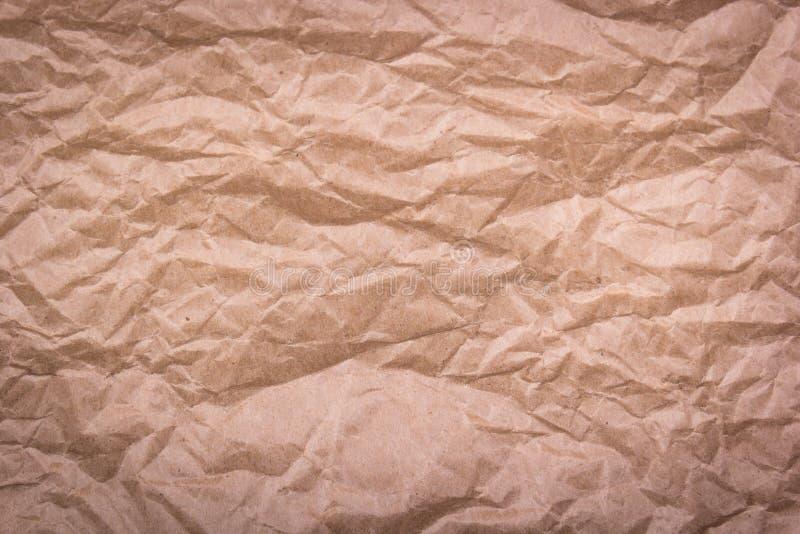 Rumpled recicló el papel Papel arrugado imagen de archivo libre de regalías