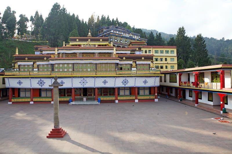 Rumtek kloster, Sikkim, Indien royaltyfri foto