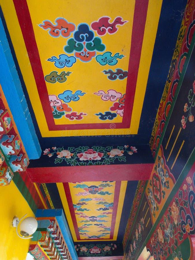 Rumtek Monastery near Gangtok. Sikkim, India, 2013 April 14th stock images