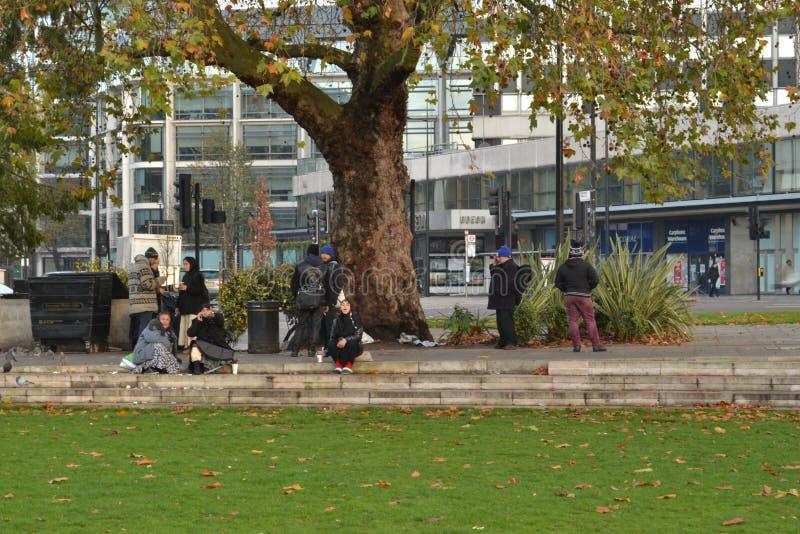 Rumuńscy gypsies w marmuru łuku Londyn zdjęcia stock