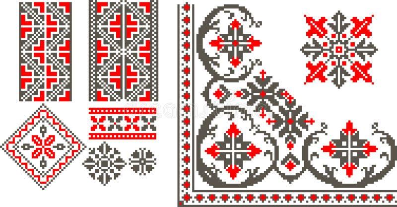 Rumuńscy tradycyjni wzory royalty ilustracja