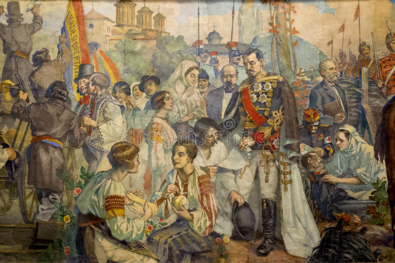 Rumuńska historia obrazy stock