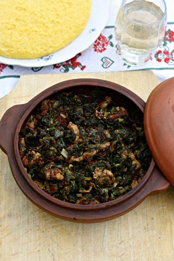 Rumuńska kuchnia - mięso i warzywa fotografia royalty free