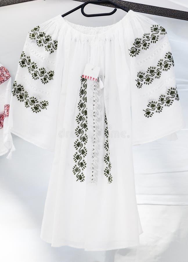 Rumuńska tradycyjna koszula obrazy royalty free