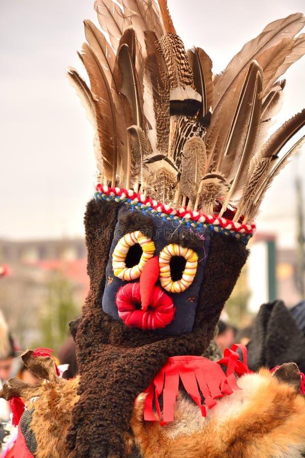 Rumuńska tradycyjna poganin maska zdjęcia royalty free