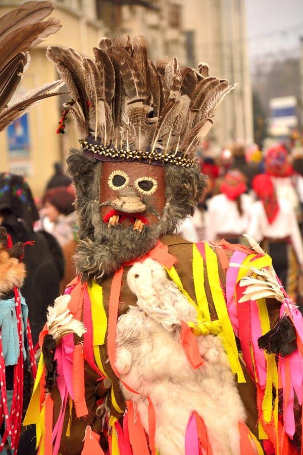 Rumuńska tradycyjna poganin maska obraz stock
