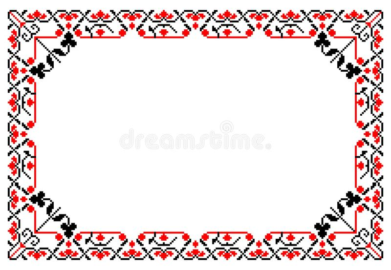 Rumuńska tradycyjna rama ilustracja wektor