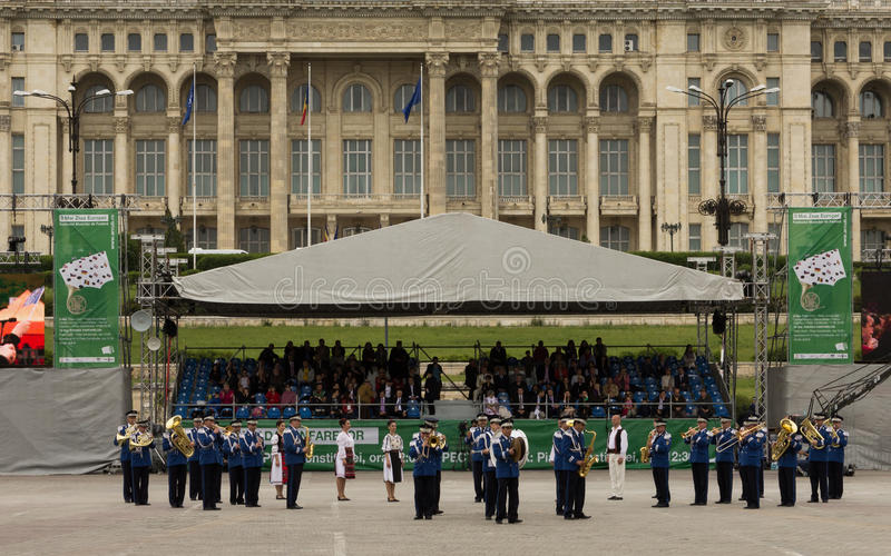 Rumuński żandarmerii Militarnej muzyki zespół obraz royalty free