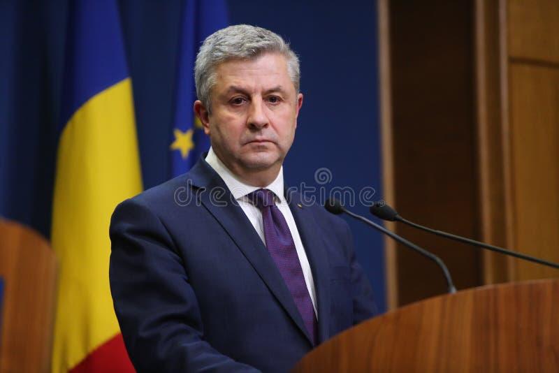 Rumuński minister sprawiedliwości, floren IORDACHE zdjęcie royalty free