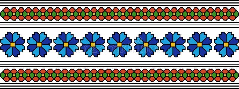Rumuński popularny wzór ilustracji