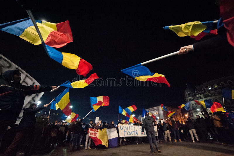 Rumuński protest dla demokraci obraz stock