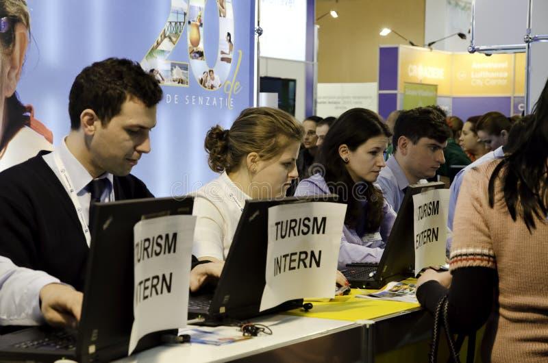 Rumuński turystyka jarmark obraz royalty free