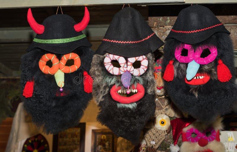 Rumuńskie tradycyjne maski zdjęcia stock